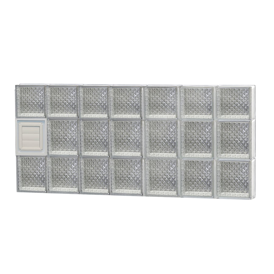 REDI2SET Diamond Glass Pattern Frameless Replacement Glass Block Window (Rough Opening: 42-in x 22-in; Actual: 40.25-in x 21.25-in)