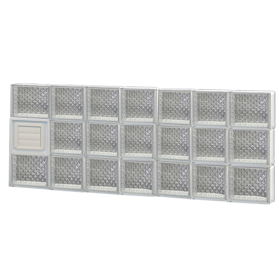 REDI2SET Diamond Glass Pattern Frameless Replacement Glass Block Window (Rough Opening: 46-in x 18-in; Actual: 44.25-in x 17.25-in)