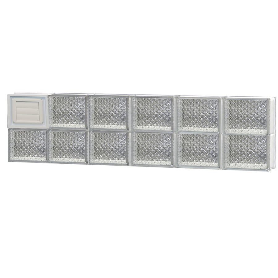 REDI2SET Diamond Glass Pattern Frameless Replacement Glass Block Window (Rough Opening: 48-in x 12-in; Actual: 46.5-in x 11.5-in)