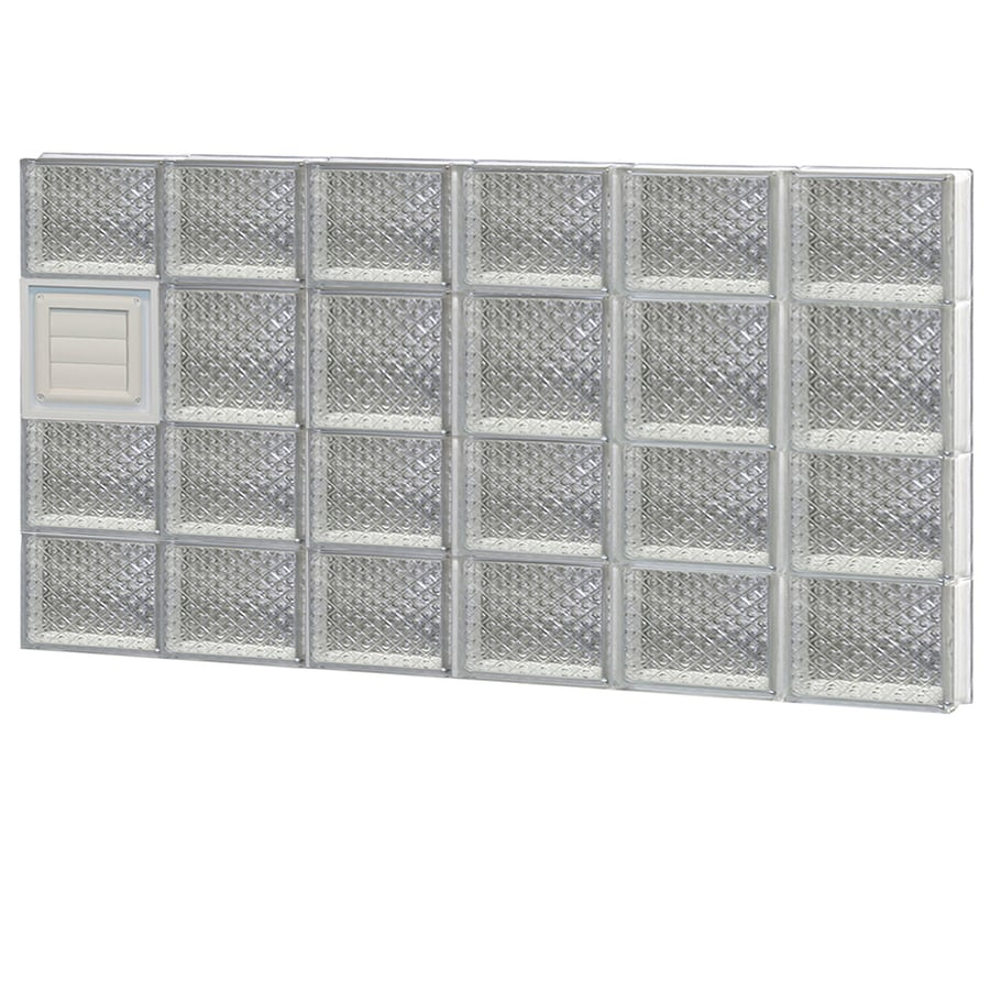 REDI2SET Diamond Glass Pattern Frameless Replacement Glass Block Window (Rough Opening: 48-in x 26-in; Actual: 46.5-in x 25-in)