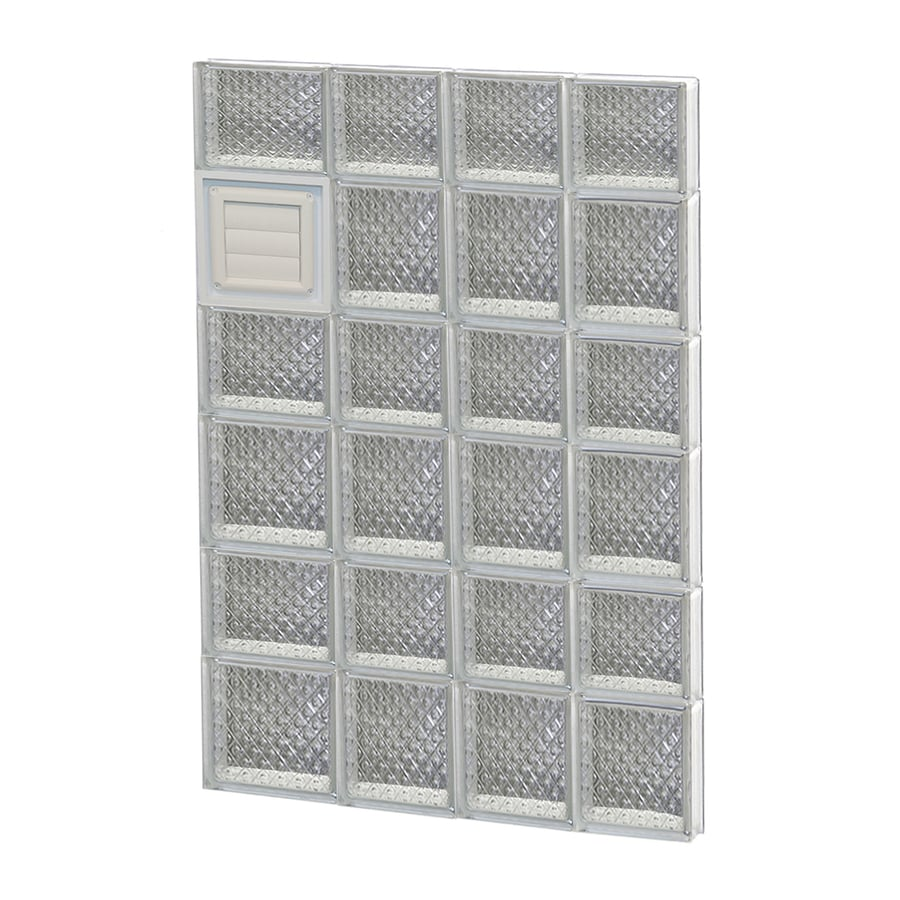 REDI2SET Diamond Glass Pattern Frameless Replacement Glass Block Window (Rough Opening: 26-in x 42-in; Actual: 25-in x 40.5-in)