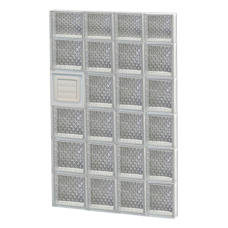 REDI2SET Diamond Pattern Frameless Replacement Glass Block Window (Rough Opening: 26-in x 46-in; Actual: 25-in x 44.5-in)