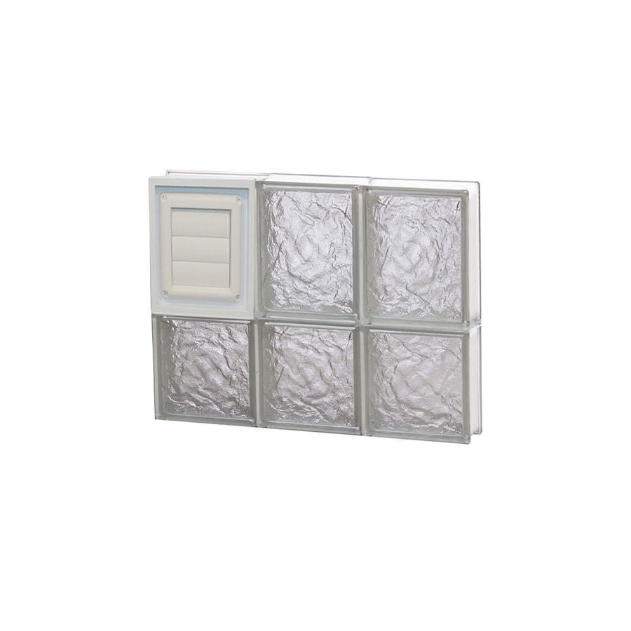 REDI2SET Ice Pattern Frameless Replacement Glass Block Window (Rough Opening: 18-in x 14-in; Actual: 17.25-in x 13.5-in)