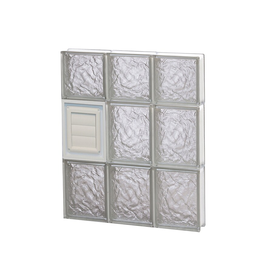 REDI2SET Ice Glass Pattern Frameless Replacement Glass Block Window (Rough Opening: 18-in x 22-in; Actual: 17.25-in x 21.25-in)