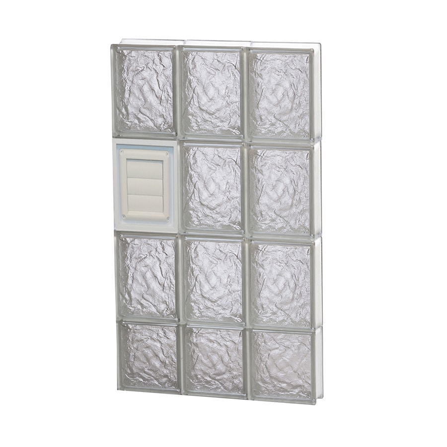 REDI2SET Ice Glass Pattern Frameless Replacement Glass Block Window (Rough Opening: 18-in x 30-in; Actual: 17.25-in x 29-in)