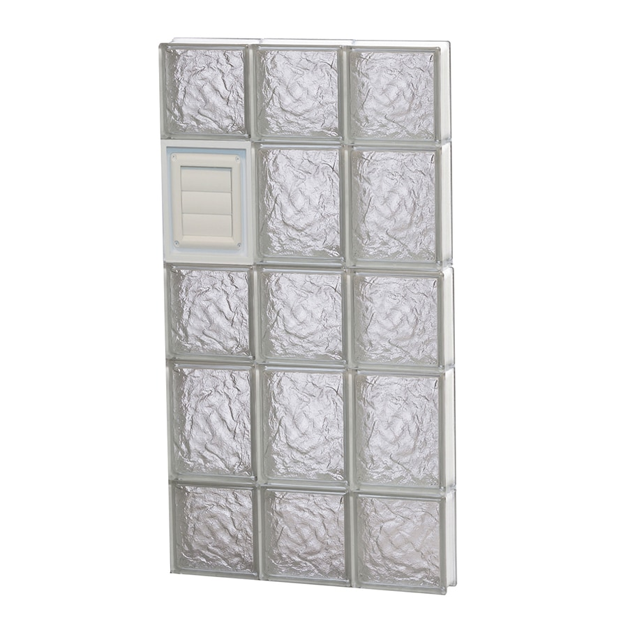 REDI2SET Ice Glass Pattern Frameless Replacement Glass Block Window (Rough Opening: 18-in x 34-in; Actual: 17.25-in x 32.75-in)