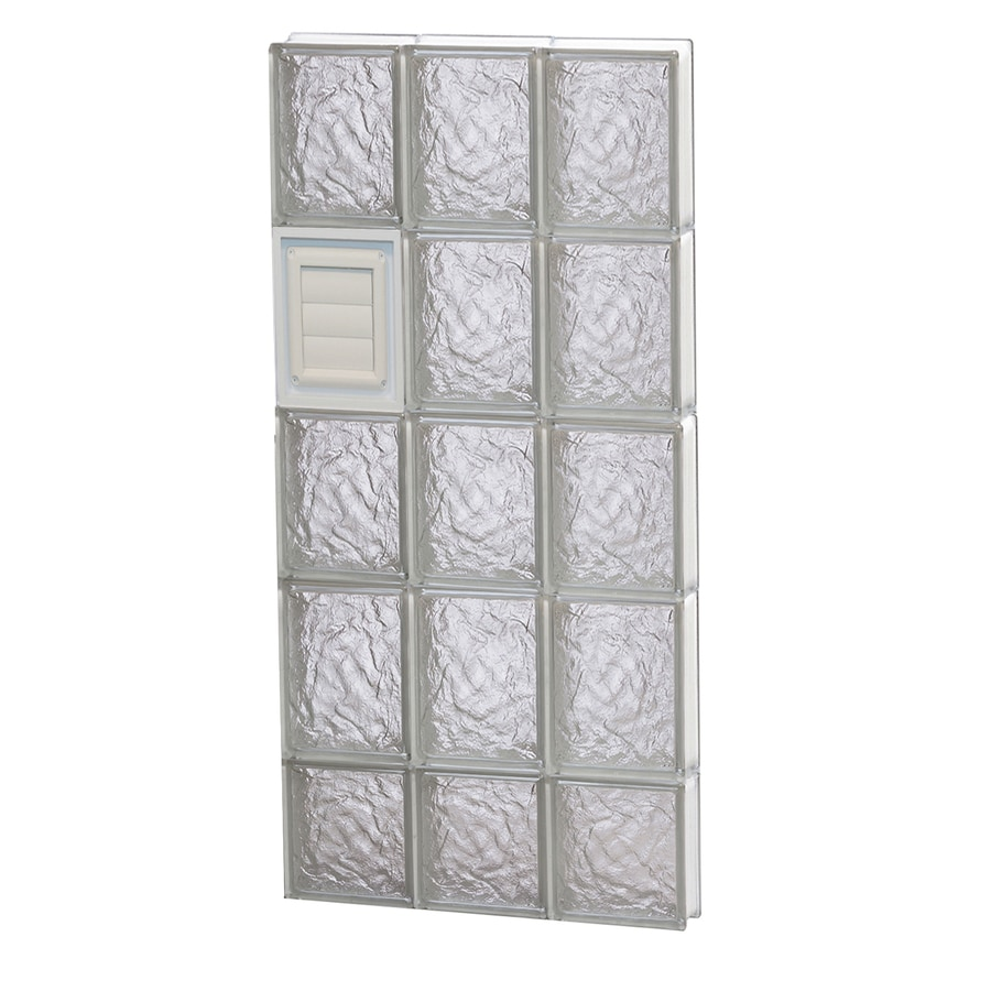 REDI2SET Ice Glass Pattern Frameless Replacement Glass Block Window (Rough Opening: 18-in x 38-in; Actual: 17.25-in x 36.75-in)