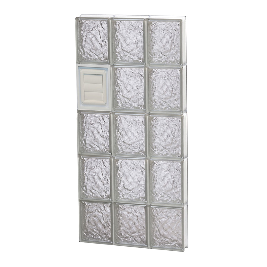 REDI2SET Ice Pattern Frameless Replacement Glass Block Window (Rough Opening: 18-in x 40-in; Actual: 17.25-in x 38.75-in)