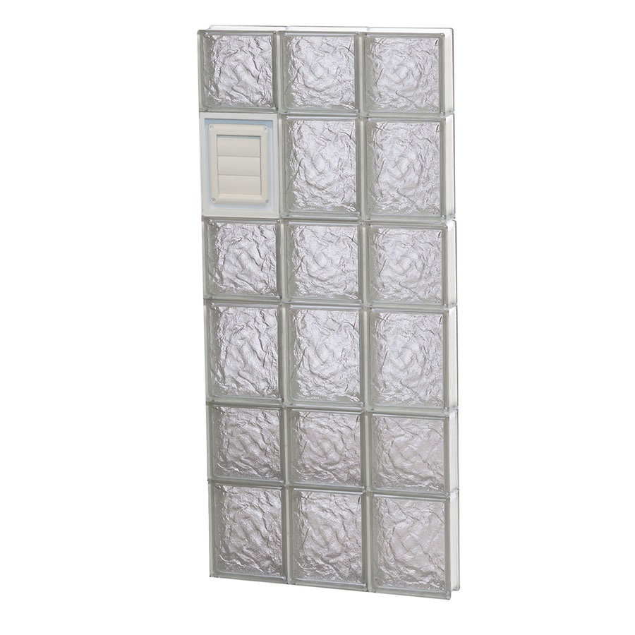 REDI2SET Ice Glass Pattern Frameless Replacement Glass Block Window (Rough Opening: 18-in x 42-in; Actual: 17.25-in x 40.5-in)