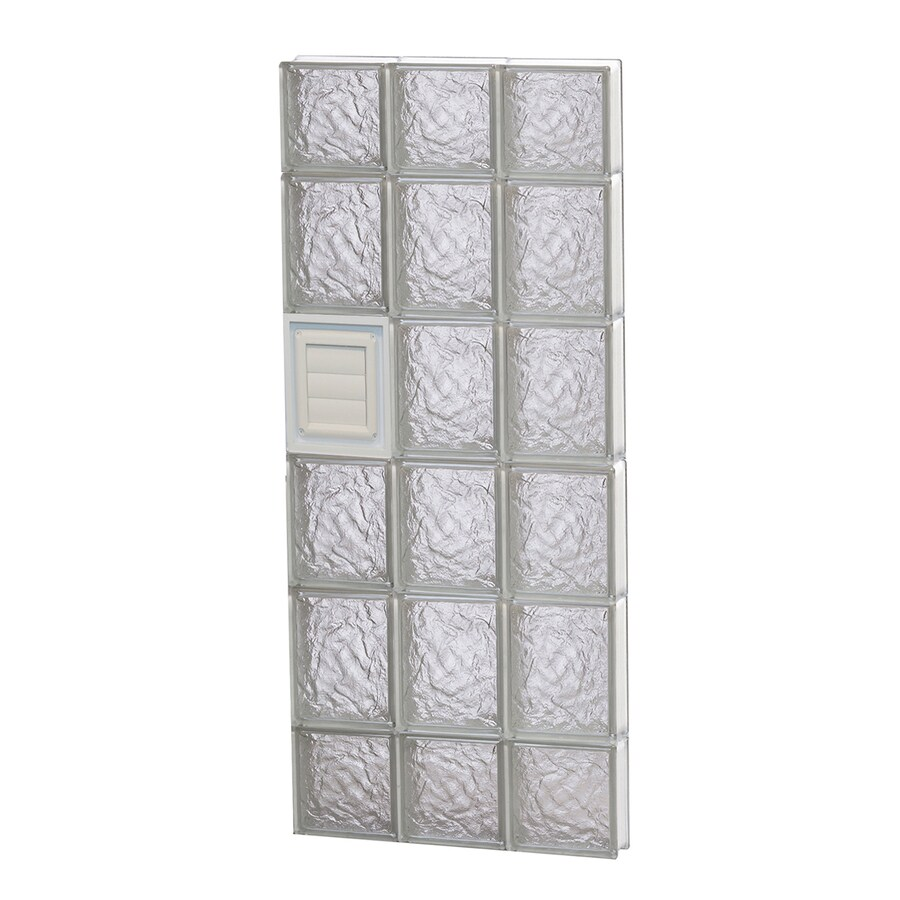 REDI2SET Ice Glass Pattern Frameless Replacement Glass Block Window (Rough Opening: 18-in x 44-in; Actual: 17.25-in x 42.5-in)