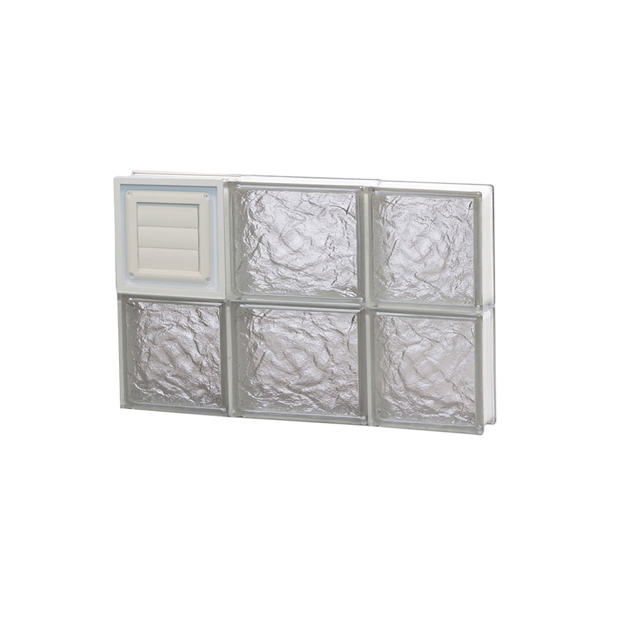 REDI2SET Ice Pattern Frameless Replacement Glass Block Window (Rough Opening: 20-in x 12-in; Actual: 19.25-in x 11.5-in)