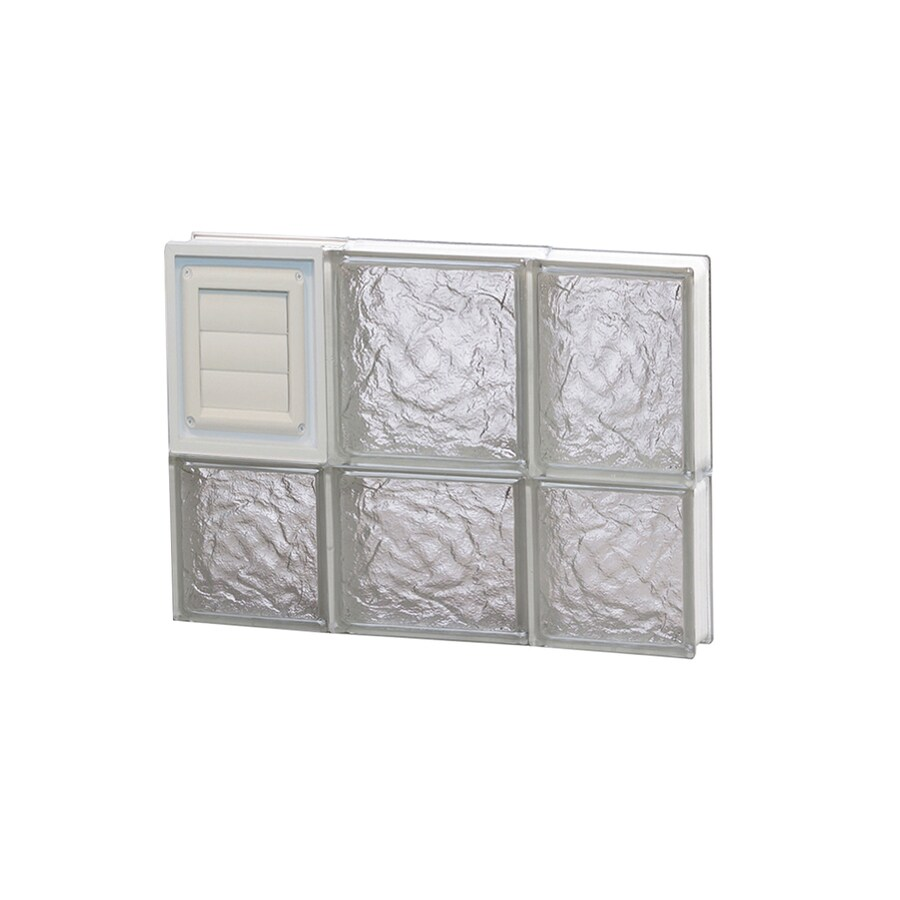 REDI2SET Ice Glass Pattern Frameless Replacement Glass Block Window (Rough Opening: 20-in x 14-in; Actual: 19.25-in x 13.5-in)