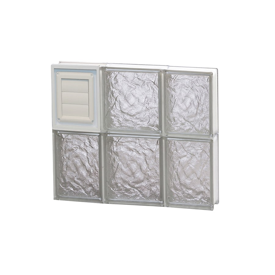 REDI2SET Ice Glass Frameless Replacement Glass Block Window (Rough Opening: 20-in x 16-in; Actual: 19.25-in x 15.5-in)