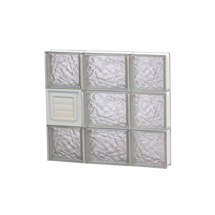 REDI2SET Ice Glass Pattern Frameless Replacement Glass Block Window (Rough Opening: 20-in x 18-in; Actual: 19.25-in x 17.25-in)