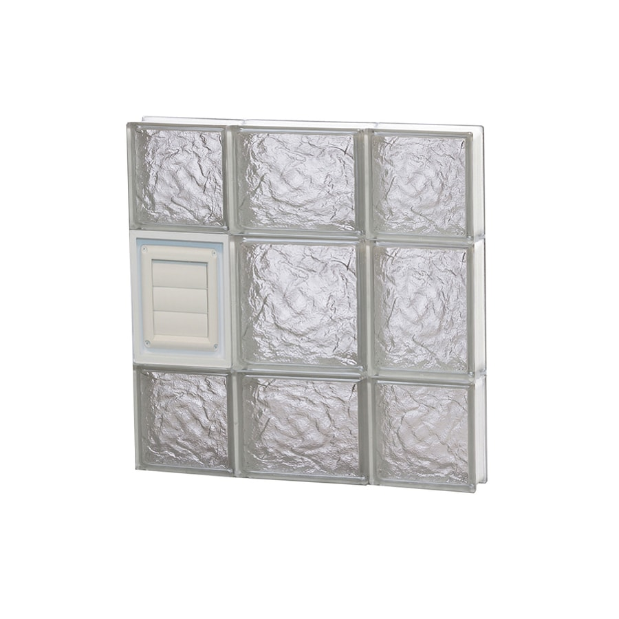 REDI2SET Ice Glass Pattern Frameless Replacement Glass Block Window (Rough Opening: 20-in x 20-in; Actual: 19.25-in x 19.25-in)