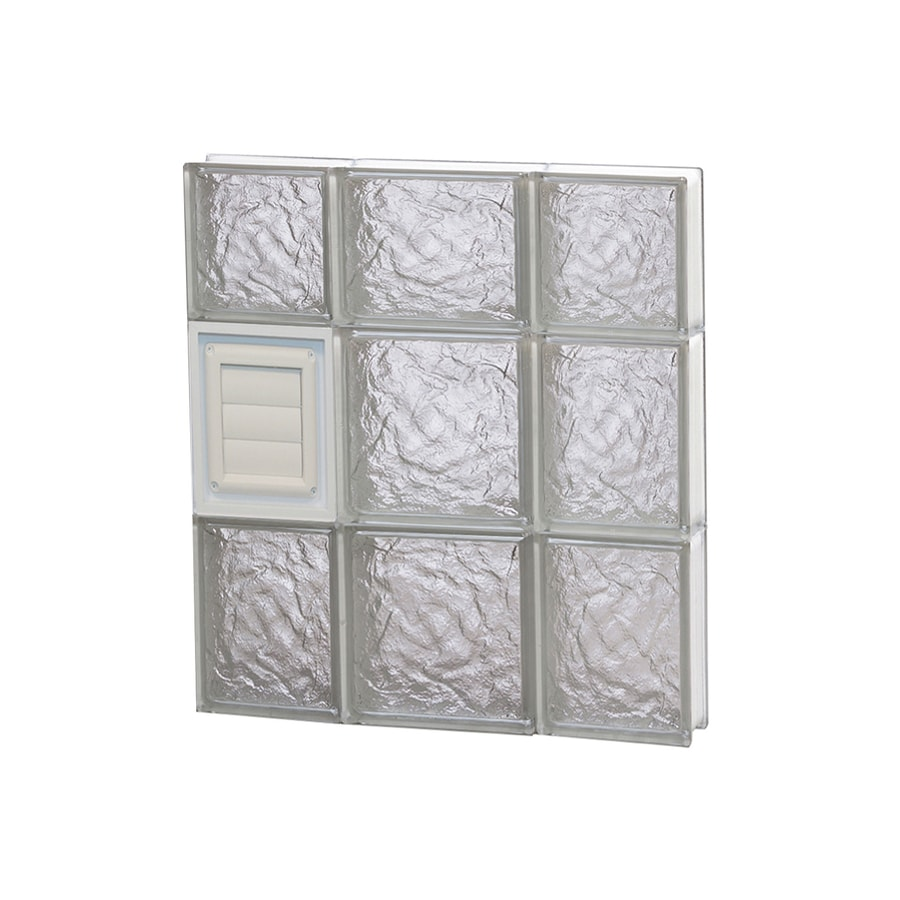 REDI2SET Ice Glass Pattern Frameless Replacement Glass Block Window (Rough Opening: 20-in x 22-in; Actual: 19.25-in x 21.25-in)