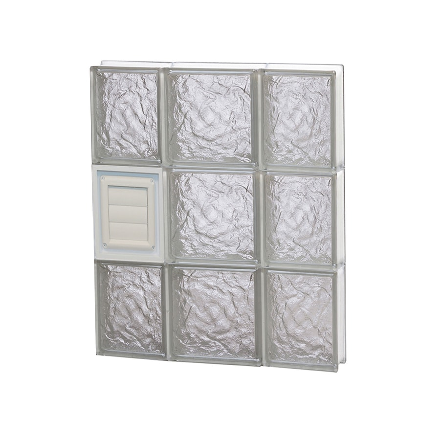 REDI2SET Ice Glass Pattern Frameless Replacement Glass Block Window (Rough Opening: 20-in x 24-in; Actual: 19.25-in x 23.25-in)