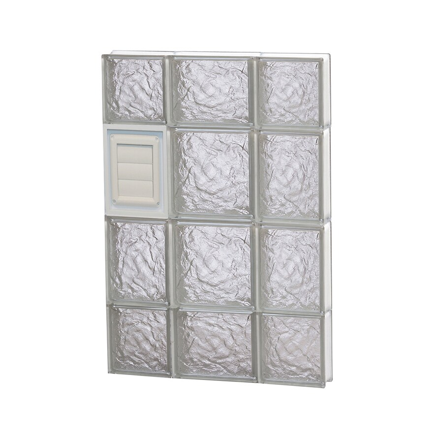 REDI2SET Ice Glass Pattern Frameless Replacement Glass Block Window (Rough Opening: 20-in x 28-in; Actual: 19.25-in x 27-in)