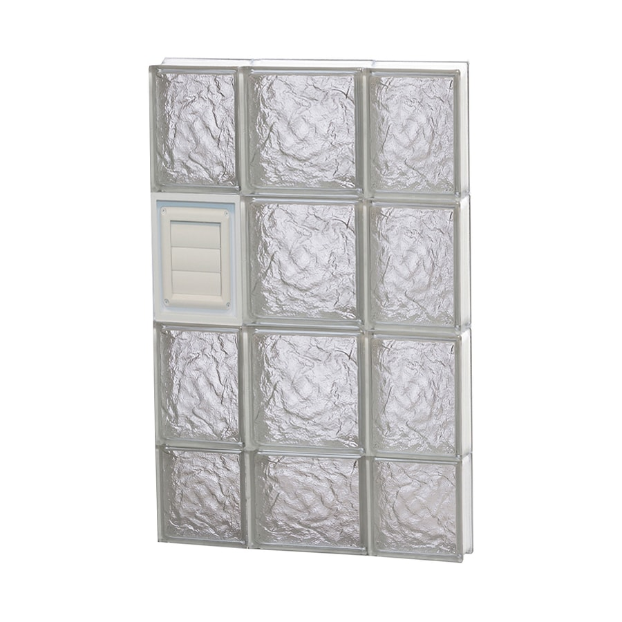 REDI2SET Ice Pattern Frameless Replacement Glass Block Window (Rough Opening: 20-in x 30-in; Actual: 19.25-in x 29-in)