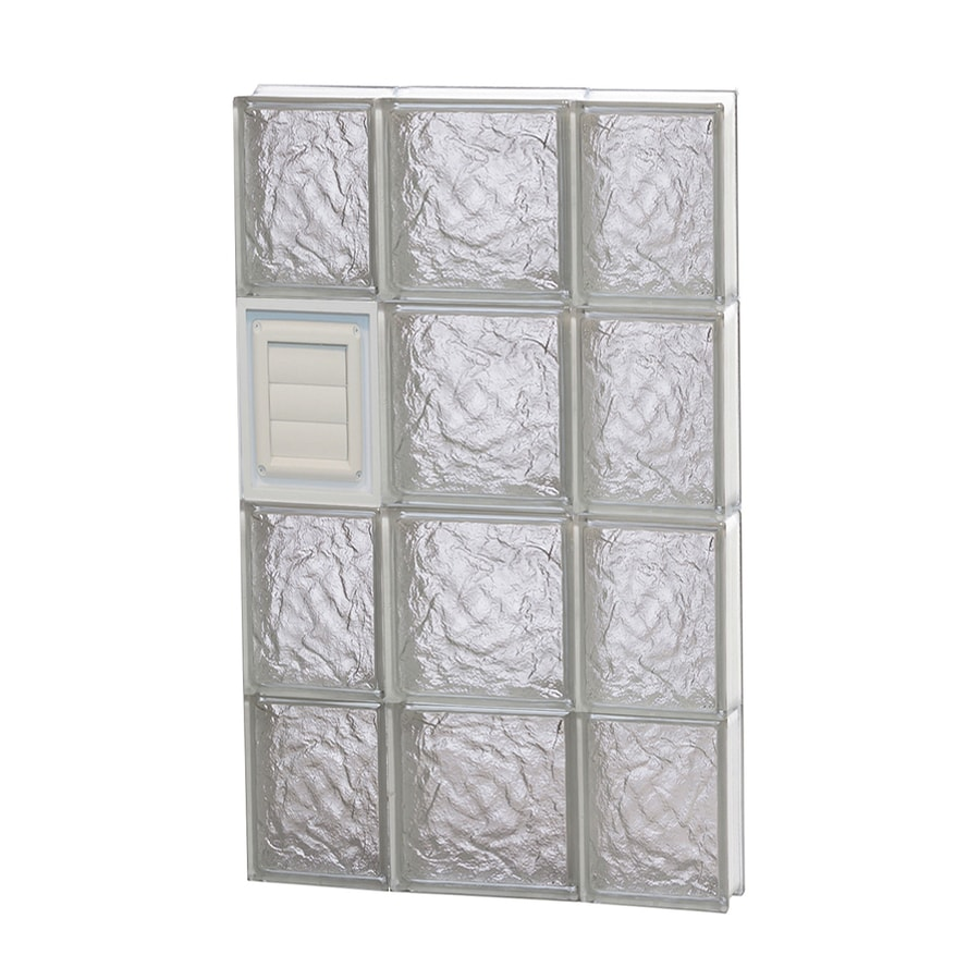 REDI2SET Ice Pattern Frameless Replacement Glass Block Window (Rough Opening: 20-in x 32-in; Actual: 19.25-in x 31-in)