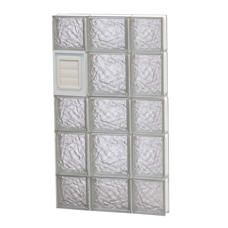REDI2SET Ice Glass Pattern Frameless Replacement Glass Block Window (Rough Opening: 20-in x 34-in; Actual: 19.25-in x 32.75-in)