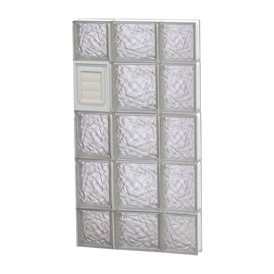 REDI2SET Ice Glass Pattern Frameless Replacement Glass Block Window (Rough Opening: 20-in x 36-in; Actual: 19.2500-in x 34.7500-in)