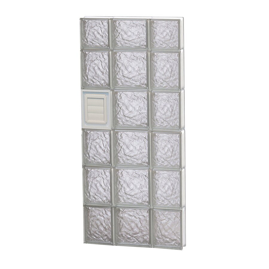 REDI2SET Ice Pattern Frameless Replacement Glass Block Window (Rough Opening: 20-in x 46-in; Actual: 19.25-in x 44.5-in)