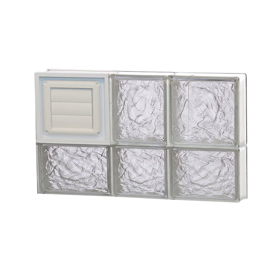 REDI2SET Ice Pattern Frameless Replacement Glass Block Window (Rough Opening: 22-in x 14-in; Actual: 21.25-in x 13.5-in)