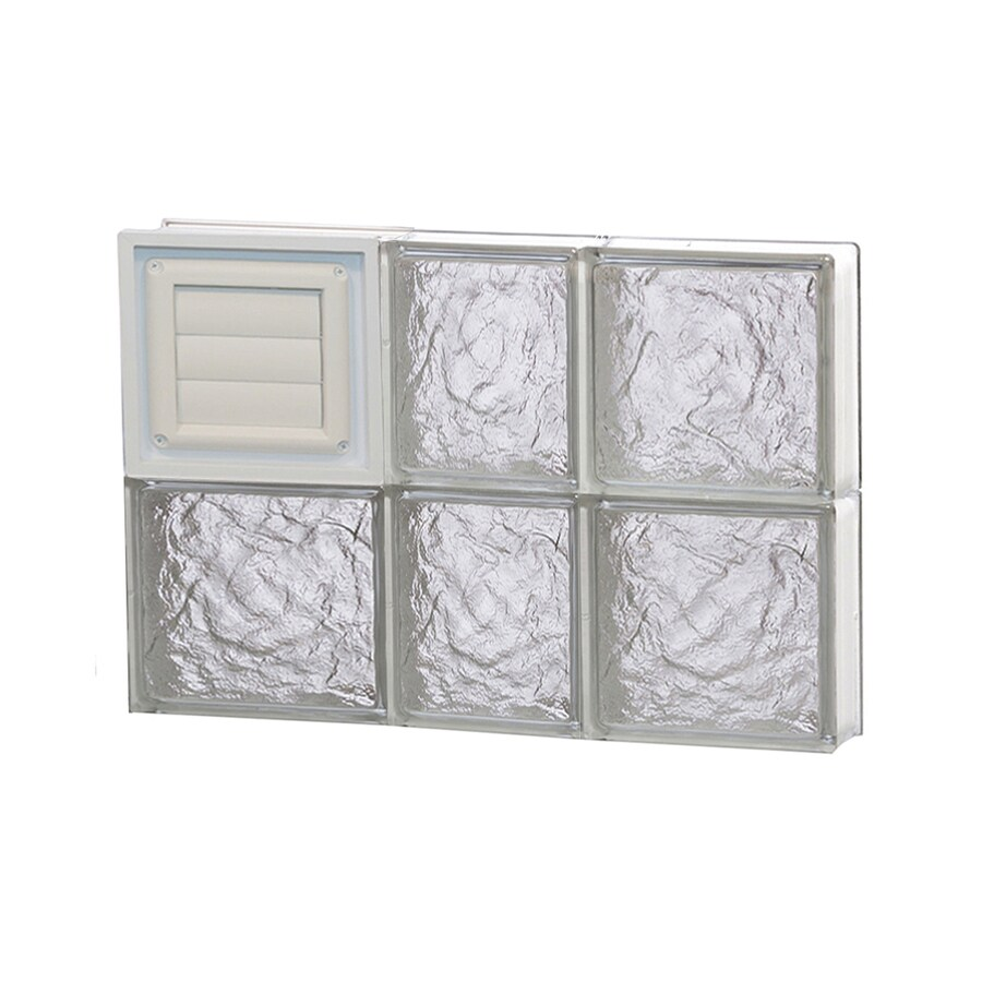 REDI2SET Ice Pattern Frameless Replacement Glass Block Window (Rough Opening: 22-in x 16-in; Actual: 21.25-in x 15.5-in)