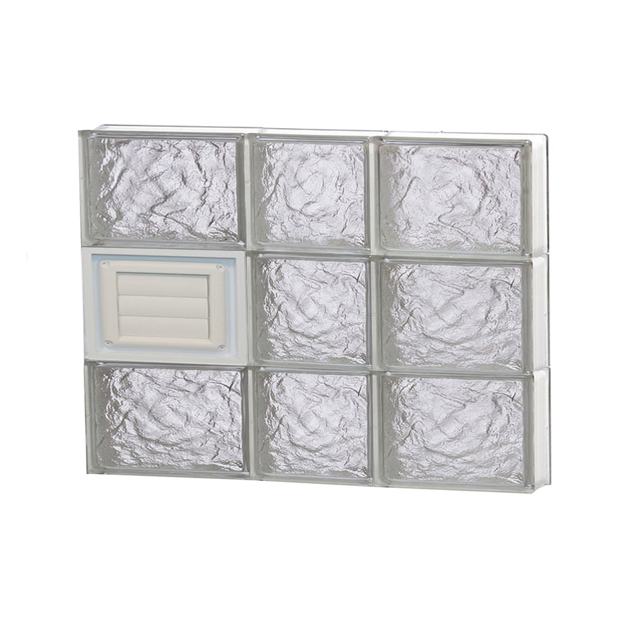 REDI2SET Ice Pattern Frameless Replacement Glass Block Window (Rough Opening: 22-in x 18-in; Actual: 21.25-in x 17.25-in)