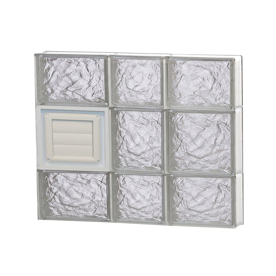 REDI2SET Ice Glass Pattern Frameless Replacement Glass Block Window (Rough Opening: 22-in x 20-in; Actual: 21.25-in x 19.25-in)