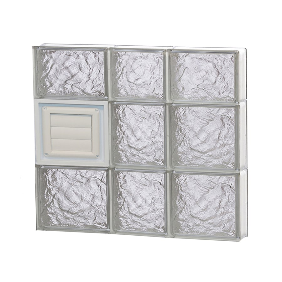 REDI2SET Ice Glass Pattern Frameless Replacement Glass Block Window (Rough Opening: 22-in x 22-in; Actual: 21.2500-in x 21.2500-in)