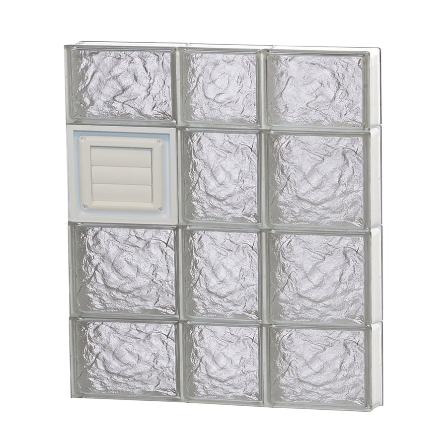 REDI2SET Ice Glass Pattern Frameless Replacement Glass Block Window (Rough Opening: 22-in x 28-in; Actual: 21.25-in x 27-in)