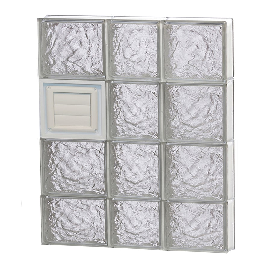 REDI2SET Ice Glass Pattern Frameless Replacement Glass Block Window (Rough Opening: 22-in x 30-in; Actual: 21.25-in x 29-in)