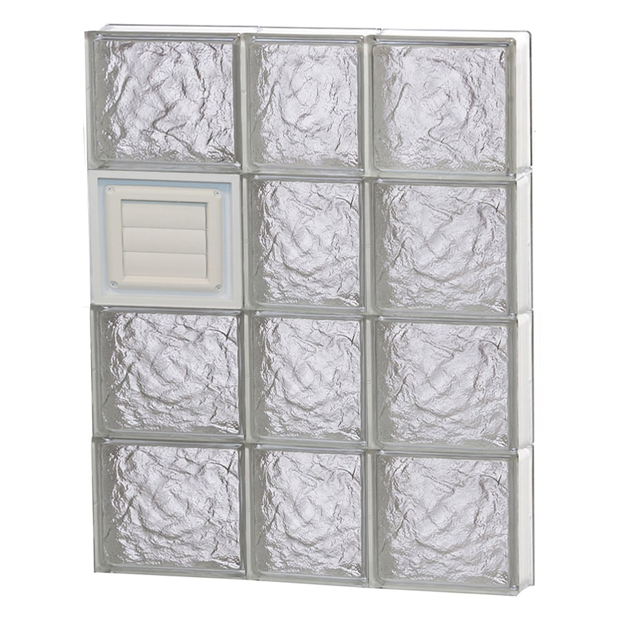 REDI2SET Ice Glass Pattern Frameless Replacement Glass Block Window (Rough Opening: 22-in x 32-in; Actual: 21.25-in x 31-in)