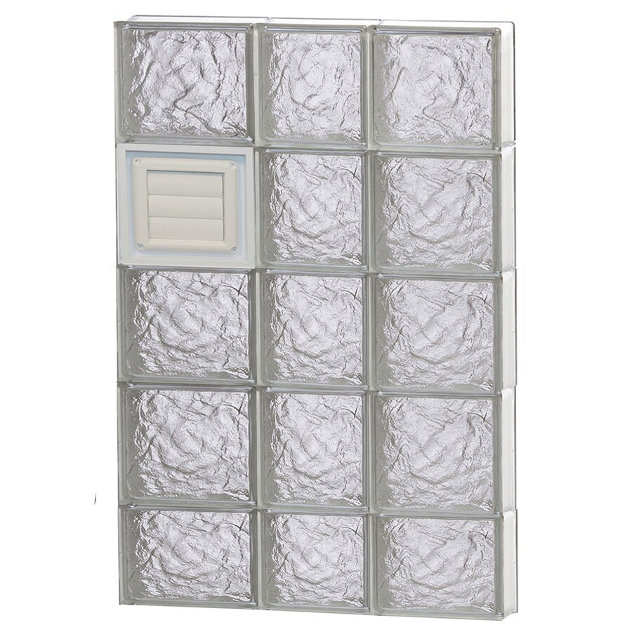 REDI2SET Ice Glass Pattern Frameless Replacement Glass Block Window (Rough Opening: 22-in x 38-in; Actual: 21.2500-in x 36.7500-in)