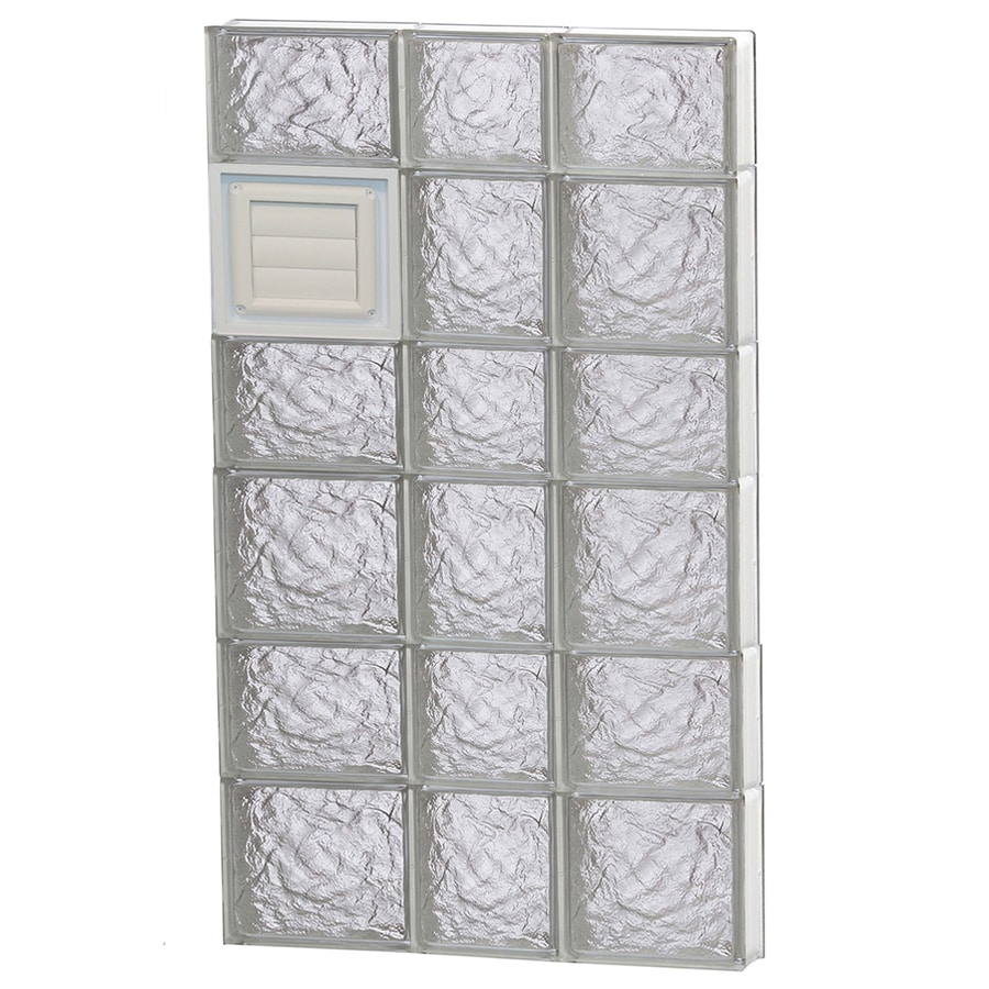 REDI2SET Ice Glass Pattern Frameless Replacement Glass Block Window (Rough Opening: 22-in x 42-in; Actual: 21.25-in x 40.5-in)
