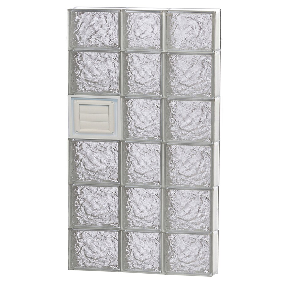 REDI2SET Ice Glass Pattern Frameless Replacement Glass Block Window (Rough Opening: 22-in x 44-in; Actual: 21.25-in x 42.5-in)