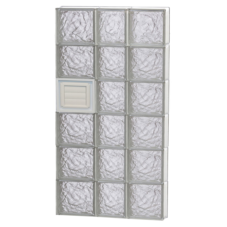 REDI2SET Ice Glass Pattern Frameless Replacement Glass Block Window (Rough Opening: 22-in x 48-in; Actual: 21.25-in x 46.5-in)