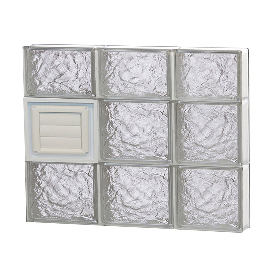 REDI2SET Ice Glass Pattern Frameless Replacement Glass Block Window (Rough Opening: 24-in x 22-in; Actual: 23.25-in x 21.25-in)