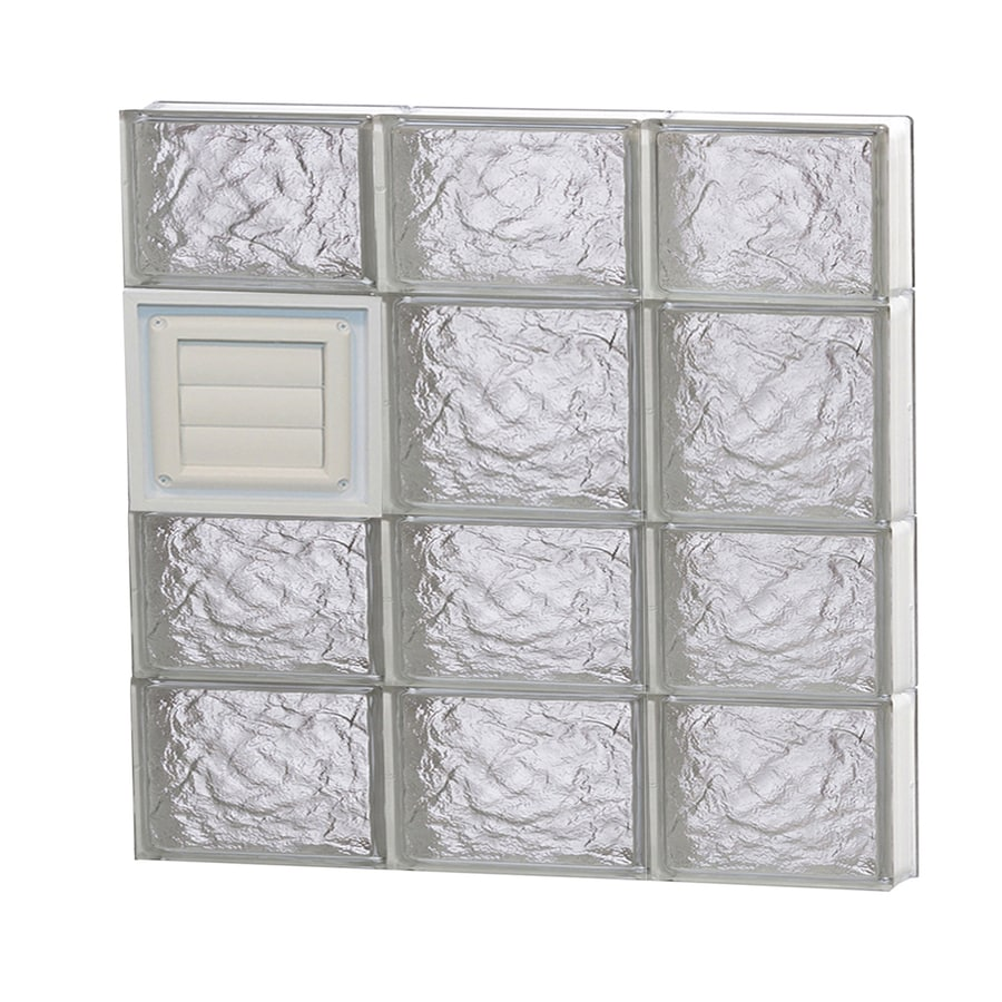 REDI2SET Ice Pattern Frameless Replacement Glass Block Window (Rough Opening: 24-in x 26-in; Actual: 23.25-in x 25-in)