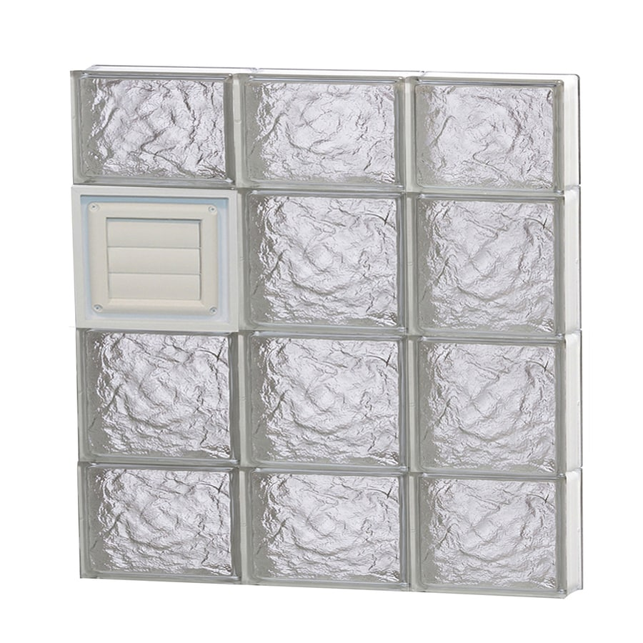 REDI2SET Ice Pattern Frameless Replacement Glass Block Window (Rough Opening: 24-in x 28-in; Actual: 23.25-in x 27-in)
