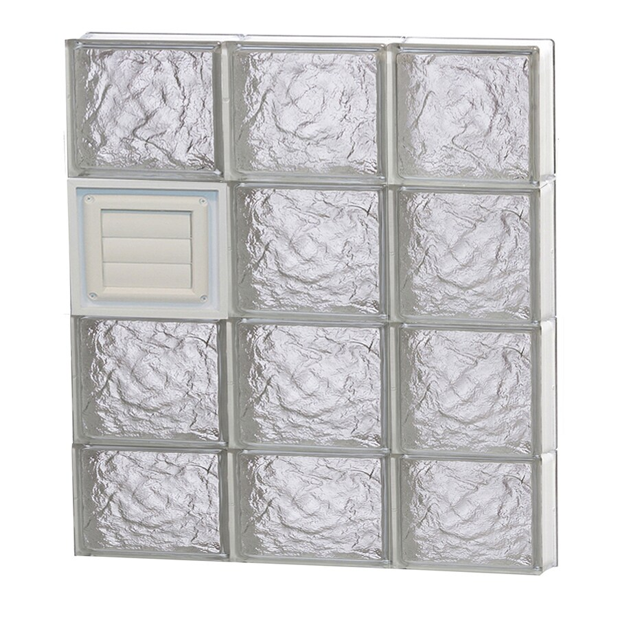 REDI2SET Ice Glass Pattern Frameless Replacement Glass Block Window (Rough Opening: 24-in x 30-in; Actual: 23.25-in x 29-in)
