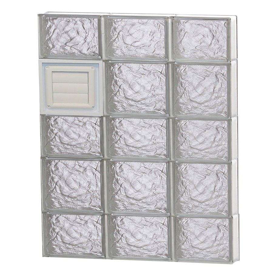 REDI2SET Ice Pattern Frameless Replacement Glass Block Window (Rough Opening: 24-in x 34-in; Actual: 23.25-in x 32.75-in)