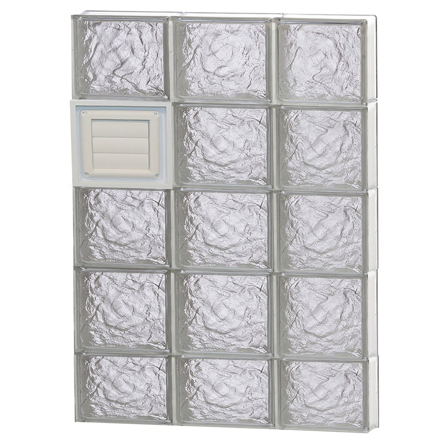 REDI2SET Ice Glass Pattern Frameless Replacement Glass Block Window (Rough Opening: 24-in x 38-in; Actual: 23.25-in x 36.75-in)