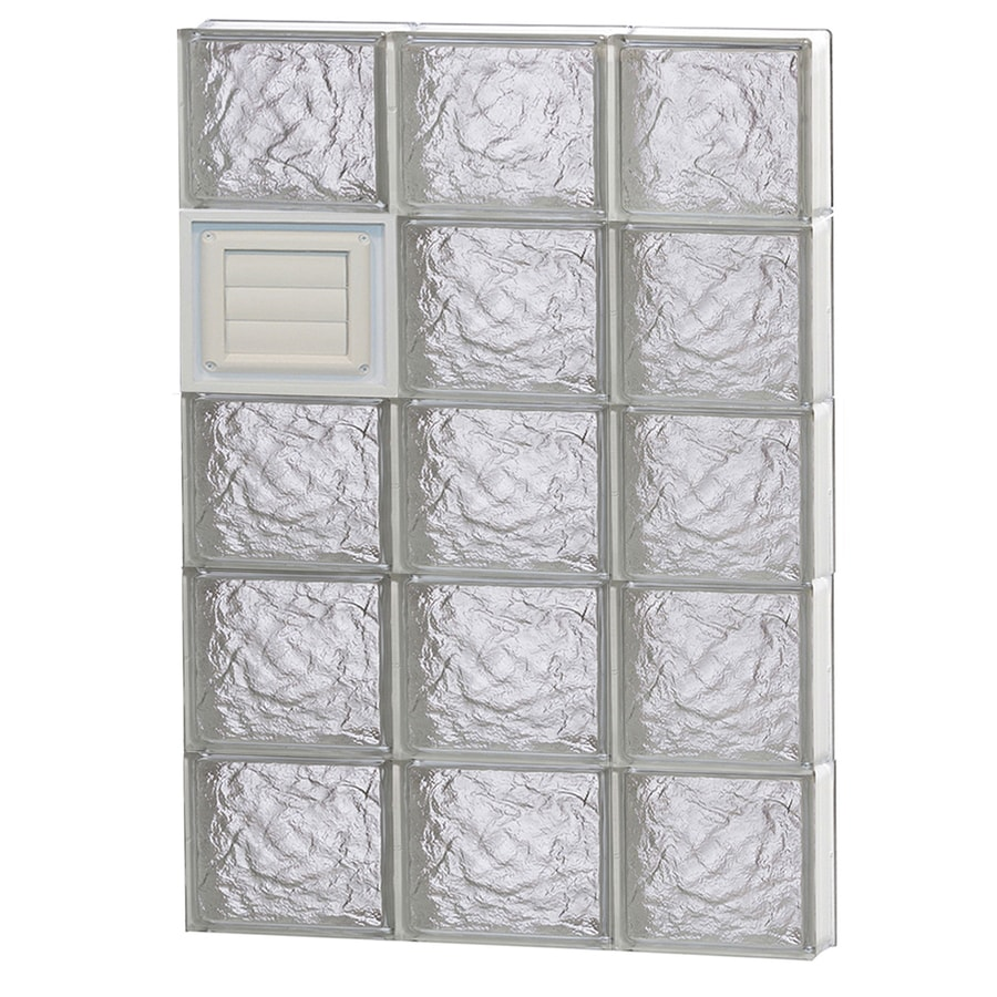 REDI2SET Ice Glass Pattern Frameless Replacement Glass Block Window (Rough Opening: 24-in x 40-in; Actual: 23.25-in x 38.75-in)