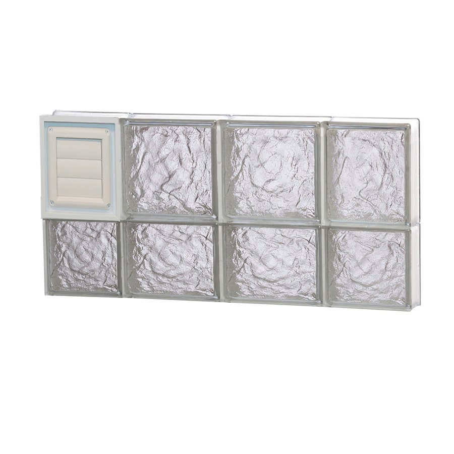 REDI2SET Ice Pattern Frameless Replacement Glass Block Window (Rough Opening: 28-in x 14-in; Actual: 27-in x 13.5-in)