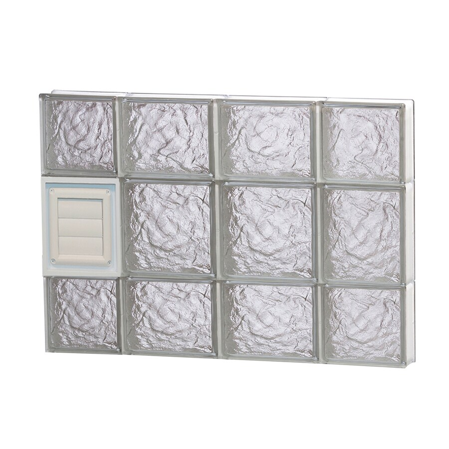 REDI2SET Ice Glass Pattern Frameless Replacement Glass Block Window (Rough Opening: 28-in x 20-in; Actual: 27-in x 19.25-in)