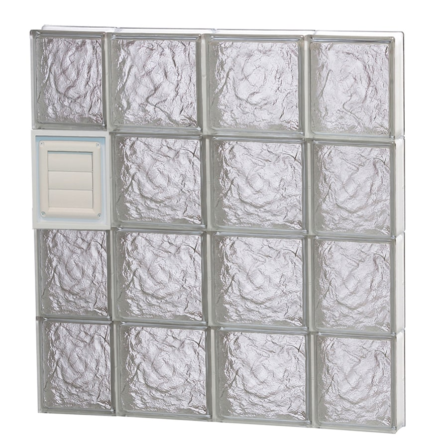 REDI2SET Ice Glass Pattern Frameless Replacement Glass Block Window (Rough Opening: 28-in x 32-in; Actual: 27-in x 31-in)
