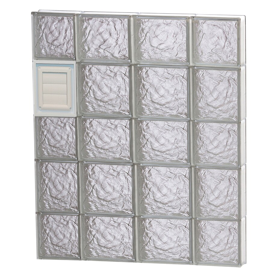 REDI2SET Ice Glass Pattern Frameless Replacement Glass Block Window (Rough Opening: 28-in x 34-in; Actual: 27-in x 32.75-in)